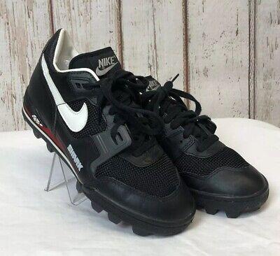 1f4a0da10bb1 VINTAGE 90's NIKE AIR BOSS SHARK FOOTBALL CLEATS SZ 6.5 BLACK *MINT*