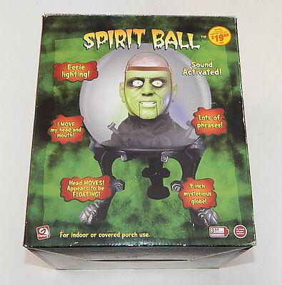 Halloween Gemmy Spirit Ball Frankensteign Green Monster In Box R11252