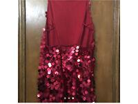 Motel sequin red dress