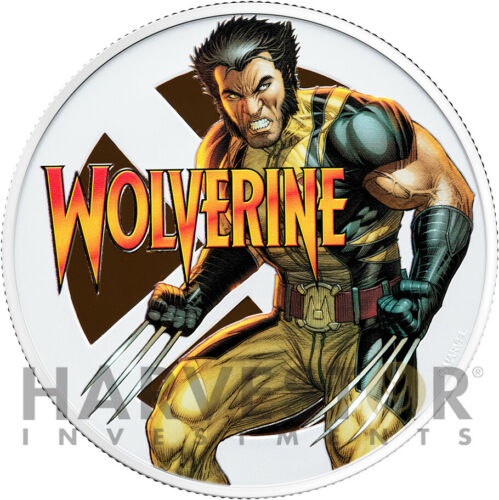 2020 MARVEL - WOLVERINE - 1 OZ. SILVER COIN - WITH SILVER COA - MINTAGE 2,500
