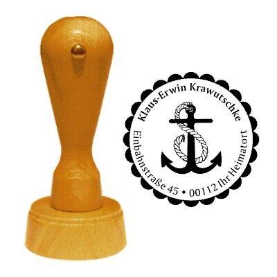 Stempel « ANKER » Adressenstempel Motiv Name Seemann Schifffahrt