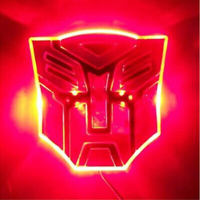 Transformer Autobots Car Emblem Edge Luminous LED Car Stickers-Red