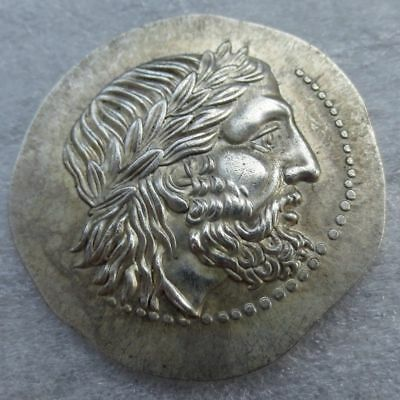 Ancient Greek King Philip II Silver Tetradrachm Of Macedon 323 BC Coin