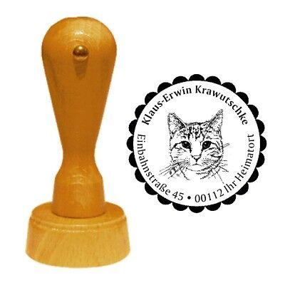 Stempel « KATZE 04 » Adressenstempel Motiv Hauskatze Katzenzucht Katzenzüchter