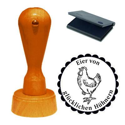 Stempel « Eier von glücklichen Hühnern » Motivstempel Eier Huhn Ei Hühnerhof 03