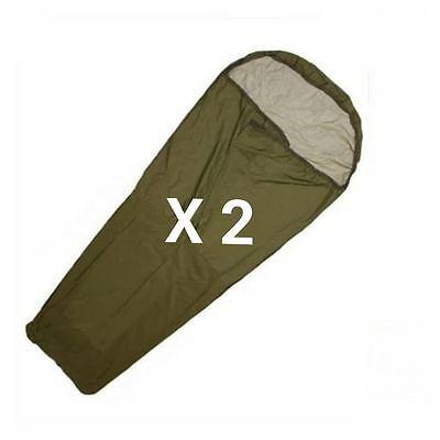 BRITISH ARMY OLIVE BIVI BAG - X 2 - GORETEX - USED - WATERPROOF - FREE POSTAGE