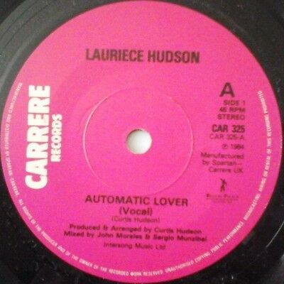 "LAURIECE HUDSON - AUTOMATIC LOVER 7"" VINYL 1980s DANCE CLUB ELECTRONIC NM"