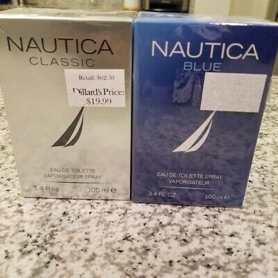 Authentic Nautica Classic/Blue Cologne by Nautica, 3.4 oz EDT Spray for Men NEW