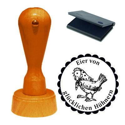 Stempel « Eier von glücklichen Hühnern » Motivstempel Eier Huhn Ei Hühnerhof 04