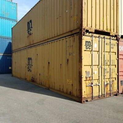 Used 40 High Cube Steel Storage Container Shipping Cargo Conex Seabox Indianapl