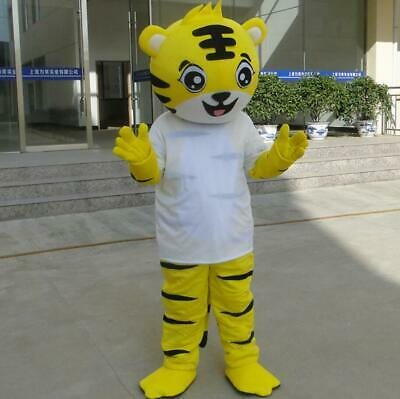 2019 Hot Adult Tiger Mascot Costume Suit Cosplay Game Dress Outfit Halloween - Adult Tiger Suit