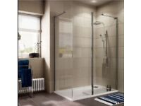 SHOWER ENCLOSURE & TRAY-1400 X 900 - (was £550 new) AS NEW - SENSIBLE OFFERS CONSIDERED