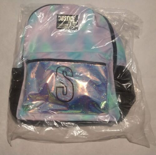 NWT Justice Girls Dye Effect Stars Initial Backpack You Pick Letter