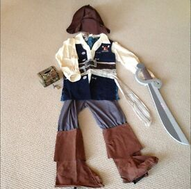 Pirates of the Caribbean Jack Sparrow Outfit Excellent Condition