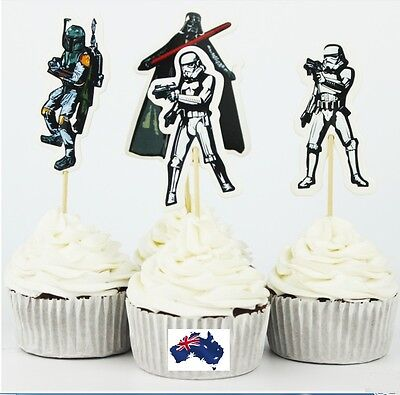 12 x Star Wars Theme CUPCAKE CAKE JELLY CUP TOPPERS Children Birthday Party   - Kids Cupcake Wars
