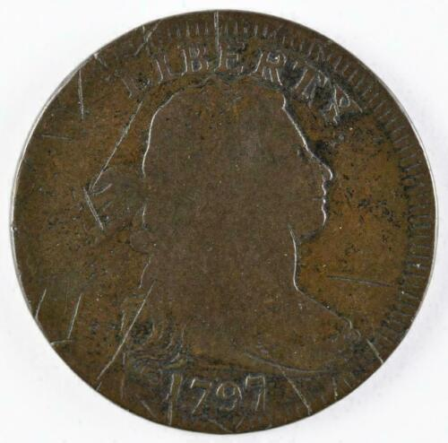 1797 1C Rev of 1797, Stems, BN