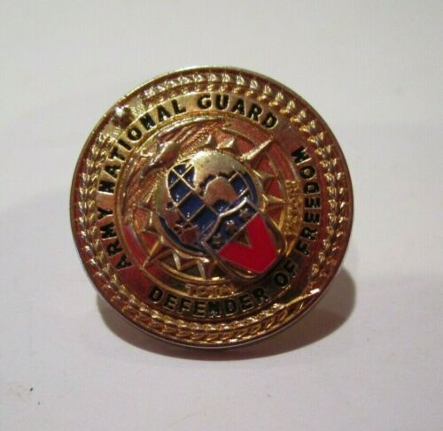 ARMY NATIONAL GUARD DEFENDER OF FREEDOM PIN Excellent Condition