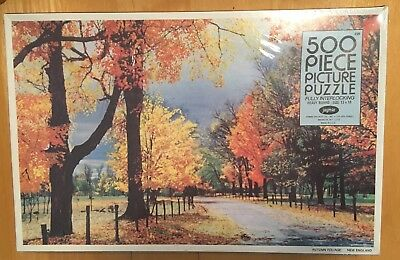 NEW * VINTAGE JAYMAR 13 X 18 AUTUMN FOLIAGE 500 PIECE PICTURE PUZZLE *