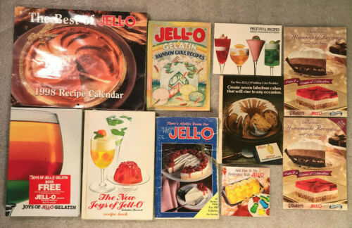 JELL-O Collection of 10 Vintage Cookbooks Booklets & Advertisements