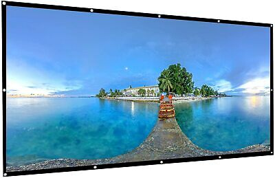 Projector Screen 120 In Polyester 16:9 Portable Foldable Home Theater Movie