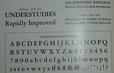 Nos Atf 8pt. Garamond Bold Lower-case No. Letterpress Metal Type
