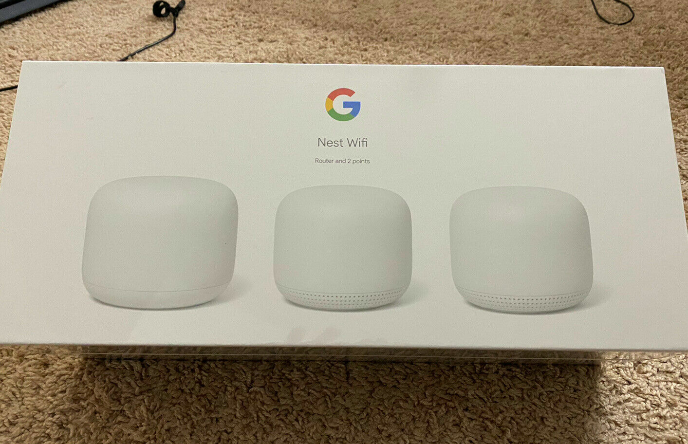 New Sealed Google Nest Wi-Fi AC2200 Mesh System Router+2 Add
