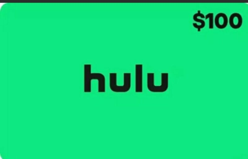 $100 Hulu Gift Card