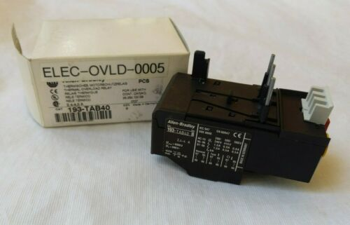 **NEW IN BOX** ALLEN & BRADLEY 193-TAB40 THERMAL OVERLOAD RELAY