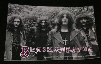 "Black Sabbath Group Sticker Black & White Image Color Logo 4"" x 5"" New Ozzy"