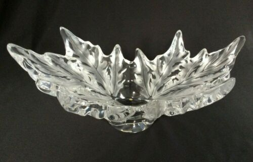 "LALIQUE France Champs Elysees 18""  French Crystal Centerpiece Bowl - Excellent"