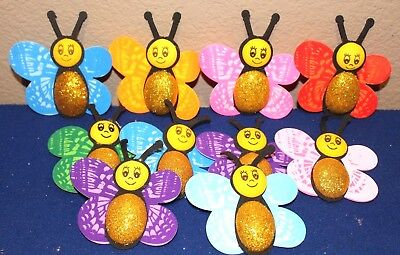 HAPPY BUTTERFLY BIRTHDAY PARTY SUPPLY OR DECORATION FOAM FIGURES 10 PACK - Foam Figures