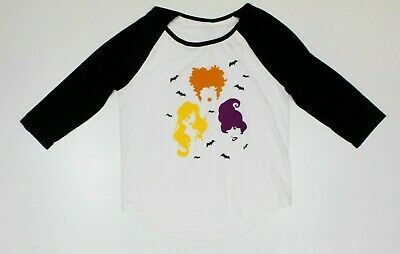 Disney Hocus Pocus White Baseball Women's T-Shirt New! Halloween Bats $29 (3F1