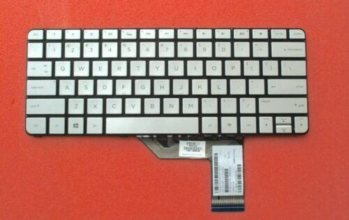 """HP Spectre X360 13"""" 13-4000 Series US Backlit Keyboard Silver 806500-001 (7Z)"""