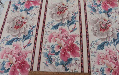 Original French Antique c1890-1900 Cotton Indienne Stripe Sample Fabric~19X31.5