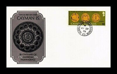 DR JIM STAMPS BICENTENARY AMERICAN INDEPENDENCE FDC CAYMAN ISLANDS COVER