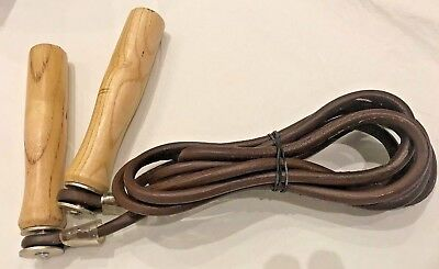 Pure Leather Skipping Speed Rope Fitness Boxing Jump Gym