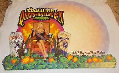 Coors Light Beer Queen Of Halloween Pamela Anderson Cardboard Stand Sign 1996