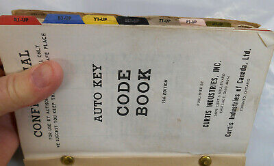 Vintage 1935-69 Chevy Gm Other 19th Edition Curtis Auto Key Code Book Locksmith