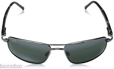 MAUI JIM 162-02 NEW Kahuna Men Women Aviator Black Glass Sunglasses Polarized