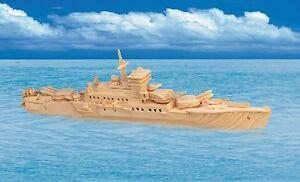 new kids adults 3d puzzle wood craft us navy cruiser model. Black Bedroom Furniture Sets. Home Design Ideas