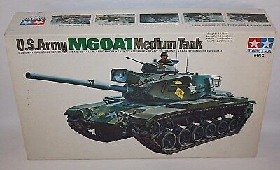 TAMIYA U.S ARMY M60A1 MEDIUM TANK 1/35 SCALE PLASTIC MODEL KIT