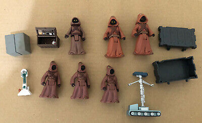 Star Wars POTF Jawa Tattooine Junkyard Lot Bundle Bull Figures