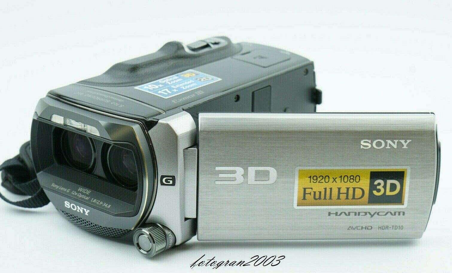 Sony HDR-TD10E 3D Camcorder Handycam +3,5