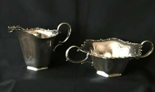 Antique Sterling Silver Sugar & Creamer by Frank M. Whiting #1687