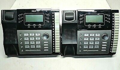 Lot Of 4 Rca Visys 25423re1 25424 4-line Business Phone System Base