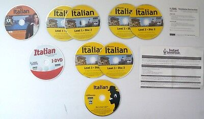Instant Immersion By Eurotalk  Italian  9 Disc Set  Lvl  1 3  Ships In 12 Hrs