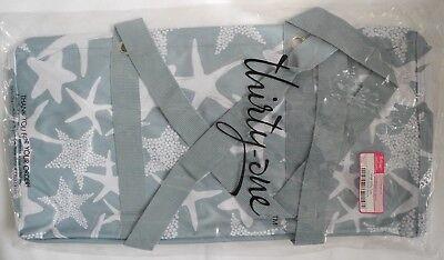 Thirty One ~LARGE UTILITY TOTE~ New/Retired Print ~ STARFISH SPLASH (Thirty One Large Utility Tote Starfish Splash)