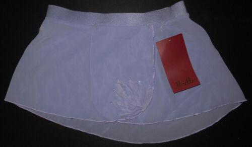 NWT Mirella Ballet Dance Lilac Mock Wrap Split Skirt Girls Med Child 8/10 MS61C
