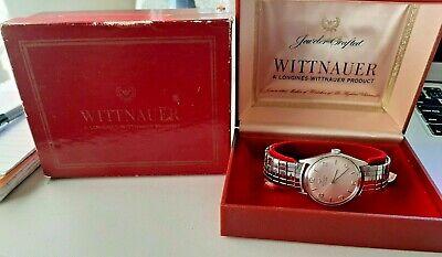 Vintage Men's Longines Wittnauer 17J Stainless Steel Wristwatch In Original Box
