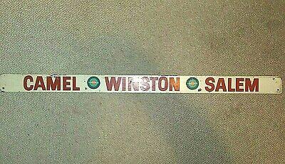 "Vintage Cigarette Advertising Door Push-Camel-Winston-Salem-Wood-36""-Tobacco"